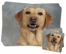 Yellow Labrador Twin 2x Placemats+2x Coasters Set in Gift Box, AD-L3PC