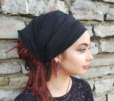 Dreadlock Accessories Tube Sock Cotton Headband Dread Wrap Yoga Headband Black