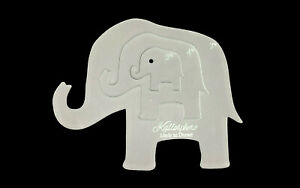 An acrylic trio of elephant sewing/craft templates