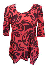 Polyester Tunic Floral Regular Size Tops & Blouses for Women