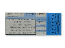 Violent Femmes Concert Ticket Stub 12/31/1991 Milwaukee Wi