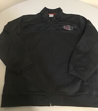 Nike Air Jordan Jump Man Full Zip Black Pinstripe Track Jacket Youth Large L