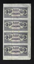Malaya Uncut 4 Notes One Dollar Nd(1942) Pm5c Prefix Md/Mo/Mk/Mb Proof Unique