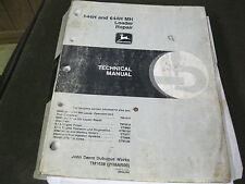 John Deere TM1638 Technical Manual Repair Version 644H & 644H MH Loaders