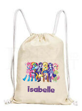 Personalised My Little Pony MLP Equestria Girls Drawstring Canvas Gym/ PE Bag