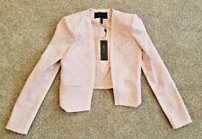 BCBG Flynn Floral Jacquard Jacket Pink Blush Size XXS