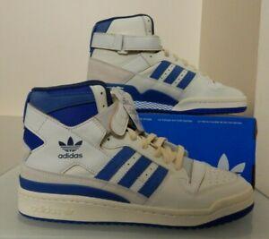 Adidas Originals Forum 84 HI OG Shoes Sneakers - RETRO - White & Blue
