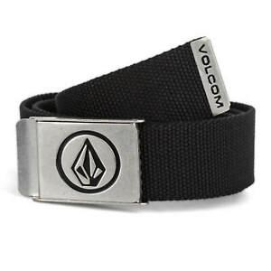 Volcom Belt circle web clip buckle belt Black - Fabric Belt With Clip Buckle