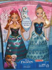 DISNEY FROZEN PRINCESS ANNA & ELSA OF ARENDELLE ROYAL SISTERS CBP87 MATTEL RARE