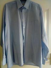 Mens Shirt Size 15.5  Blue With Stripes Carlo Santini