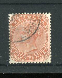 Bermuda QV 1883-1904 4d orange-brown SG28a used