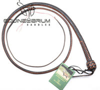 2, 3, 4, 5 and 6 Foot 12 Plait Kangaroo Hide Leather Snake Whip, Bullwhip