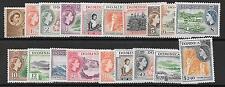 DOMINICA SG140/58 1953 DEFINITIVE SET MNH