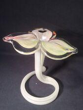 Murano Hand Blown Art Glass LAVORAZIONE Flower Vase (ref W735)