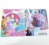 2 Disney Frozen 2 Princess Belle Cinderella LED Night Light NEW
