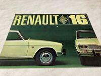 Renault 16 R16 catalogue prospectus brochure dépliant automobile publicité