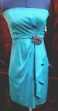 BCBGMAXAZRIA Kelly Green Polyester Silk Formal Dress Sz 2 Prom Homecoming