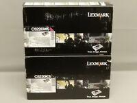 Lexmark C5220KS Black C5220MS Magenta Toner Cartridge New Sealed Box Lot Of 2