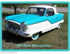 1960 Nash Metropolitan Auto Refrigerator / Tool Box  Magnet Man Cave