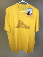 ICEBREAKER 100% Merino Wool Mens 'Mt.Cook' Graphic Tech Lite SS Tee - XL - NEW