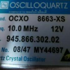 1pc Oscilloquartz 8663 Xs 10mhz 12v Sinewave Ocxo Crystal Oscillator T1a Ys