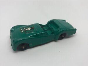 Vintage Tootsietoy Triumph TR-3 Green Die Cast Metal Car Dapper Dan Logo on Hood