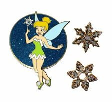 Le Disney Auctions Pin ✿ Tink Tinker Bell Santa Dress Winter Christmas Snowflake
