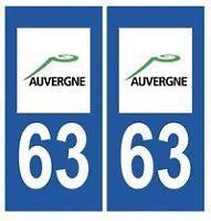 stickers autocollants plaques immatriculation auto Département Puy-de-Dôme 63