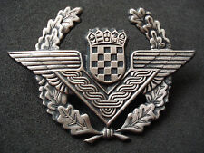 Croatia air force, officer cap badge; military, army, Homeland war
