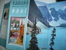 TARIF CANADA B.O.A.C. 1950 AVION AVIATION