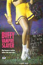 Kristy Swanson Signed Buffy The Vampire Slayer 11x17 Poster PSA/DNA LOA w/ Insc