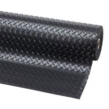 Checker 11m x 1.8m pavimenti antiscivolo in gomma per Furgone o Garage Flooring Tappetino Roll
