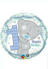 X2 Blue Tatty Teddy 1st Birthday Helium Balloon