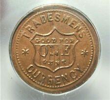 Nd Civil War Token Tradesmen Currency Icg Ms63 Fuld#202/434 #S249 (Saz)