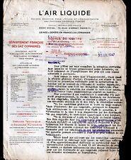 """MONTLUCON (03) USINE / AIR LIQUIDE OXYGENE ACETYLENE """"L'AIR LIQUIDE"""" en 1947"""