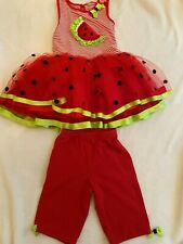 Watermelon girl costume Size 8