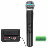 Rockville Handheld Battery Powered UHF Wireless Microphone+Rechargeable Receiver
