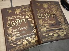 antique books - PICTURESQUE EGYPT - G. EBERS - 2 volumes - 1885