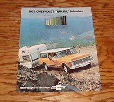 1972 Chevrolet Truck Suburban Sales Brochure 72 Chevy