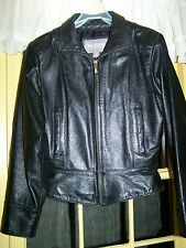 Wilsons Leather Womens Biker Jacket, Size Small, Coat Genuine 100% Soft Thick