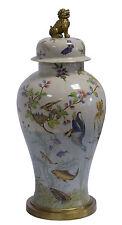 Messing Keramik Amphore Vase Deckel Hund Historismus prunkvoll neu 99937801-dss