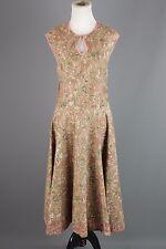 Vtg Women's 50s Brown Cotton Floral Sheath Dress #1400 1950s Sz XL Housedress