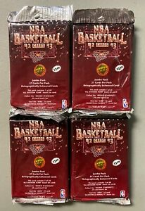 LOT (4) 1992-93 Upper Deck UD Basketball Sealed Unopened Jumbo Pack Shaq RC Yr