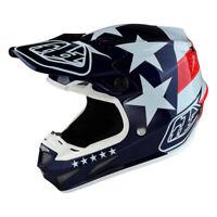 Troy Lee Designs SE4 Composite Metric Freedom Blue Helmet