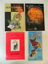 Lote 3 Libros Letteratura calabrese Guida turismo Sila Papel Vini Poesie OMA19