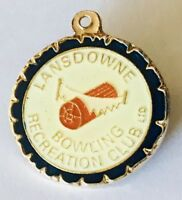 Lansdowne Bowling Recreation Club Badge Pin Rare Vintage (L26)