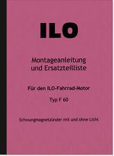 ILO F 60 Motor Reparaturanleitung Ersatzteilliste Montageanleitung F60 JLO
