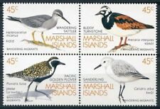MARSHALL ISLANDS, SCOTT # 222-225, BLOCK OF 4 MIGRANT WANDERING BIRDS, MNH 1989