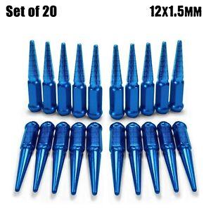 "20 - 4.5"" Spike Lug Nuts 12x1.5 fit Sonoma S15 Jimmy GTO Firebird G5 Blue 5BL3"