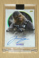 2017 Topps Star Wars Stellar Signatures autograph Joonas Suotamo CHEWBACCA 8/40